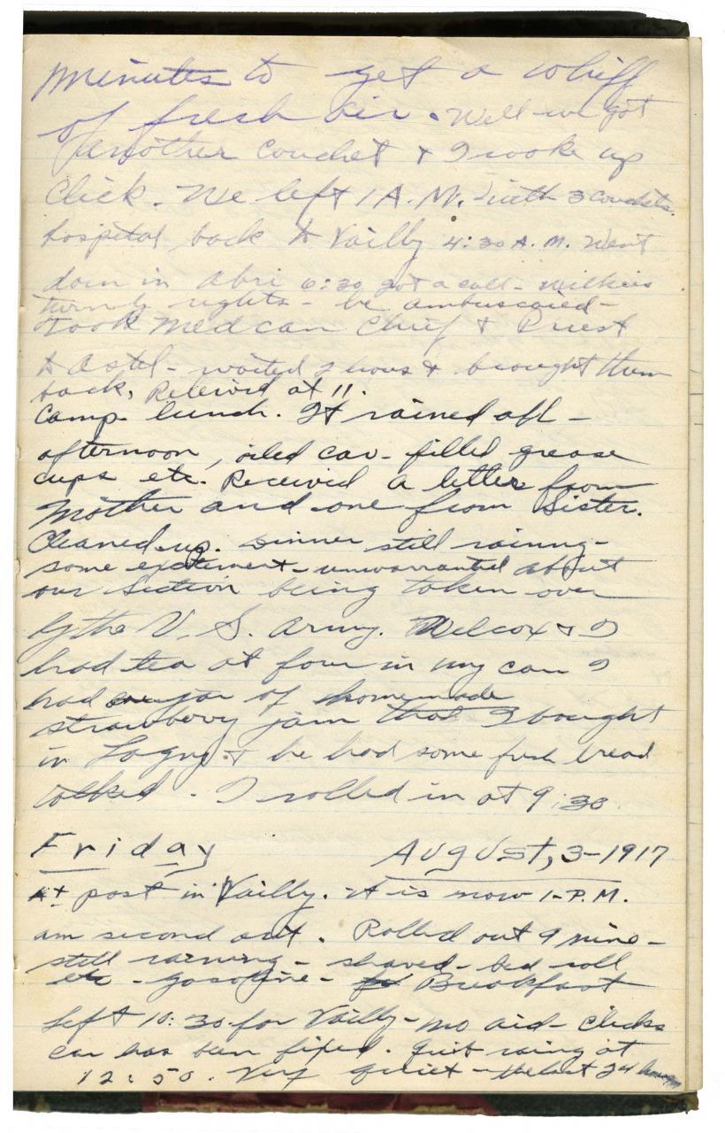 Backus diary page