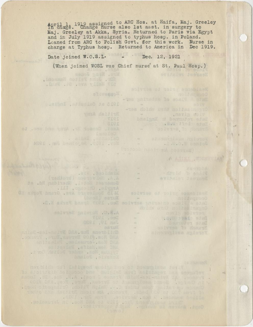 Women's Overseas document