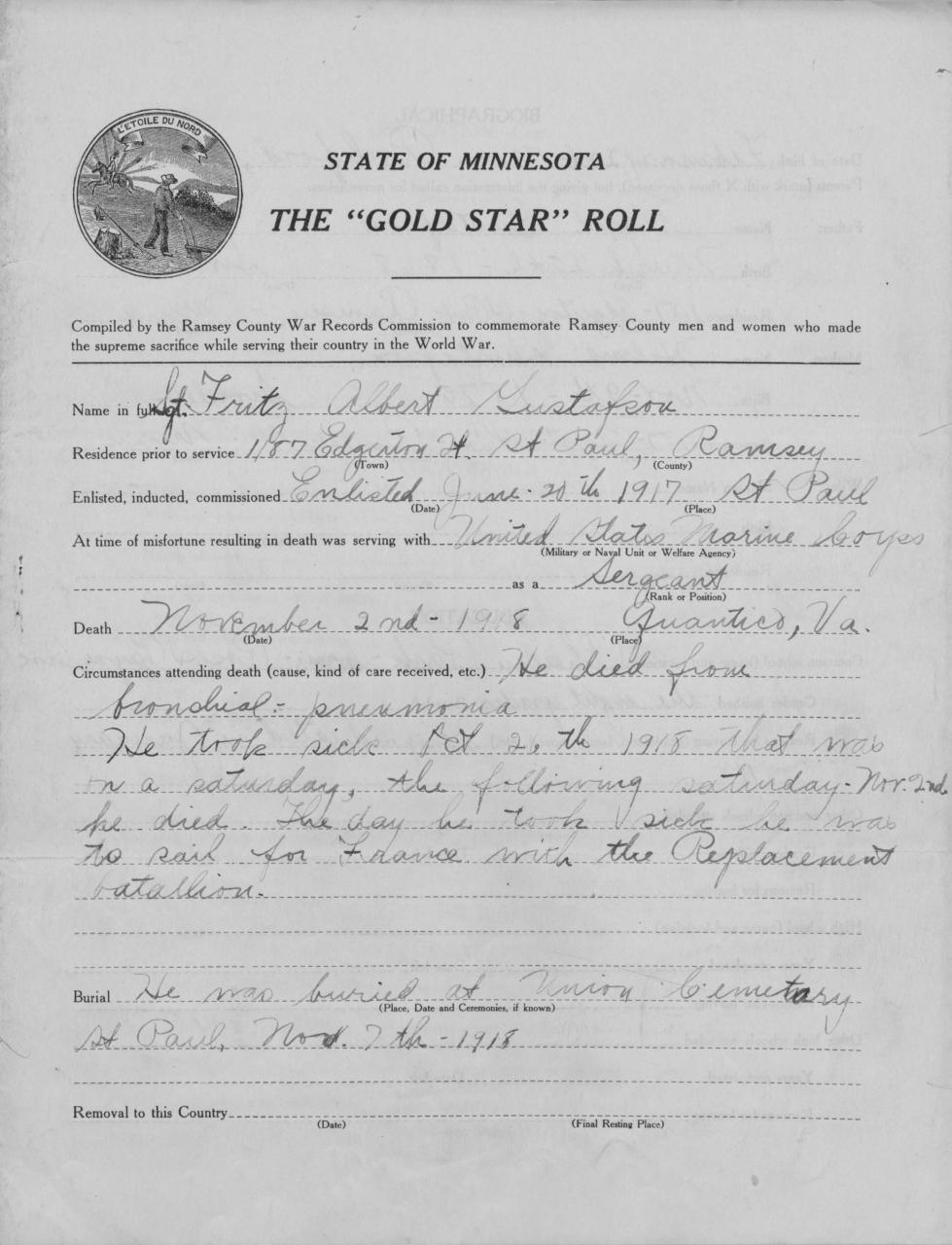 Recruiting in WWI part 1 | Minnesota Historical Society