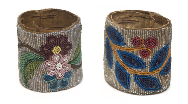 1940s beaded napkin holders