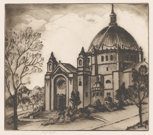 Etching of St. Paul Cathedral