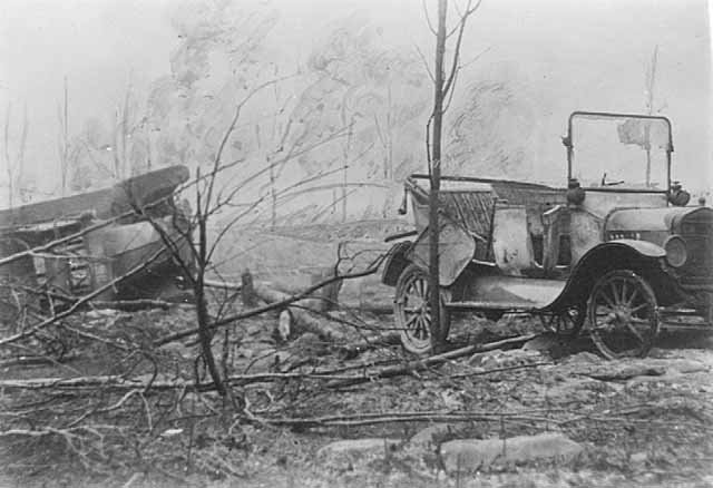 Cars destroyed by fire