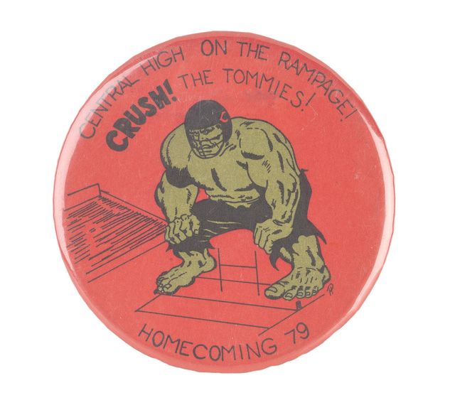 Central homecoming button