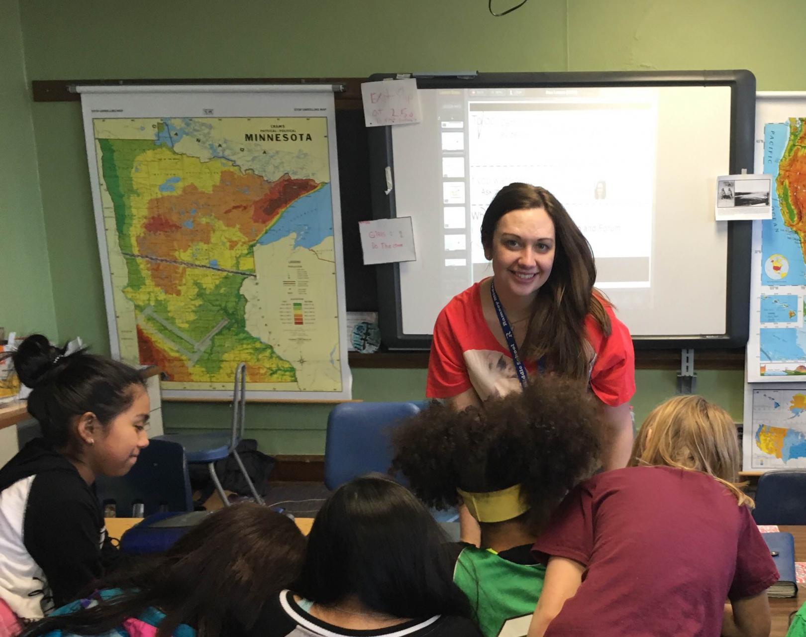 Kara Cisco teaching a class