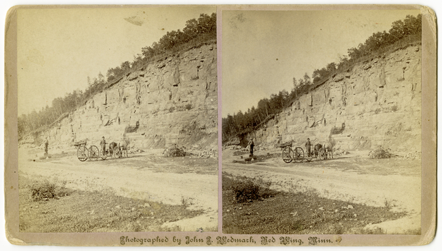Stereoview of Limestone Quarry