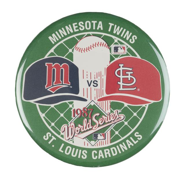 Twins World Series button 1987