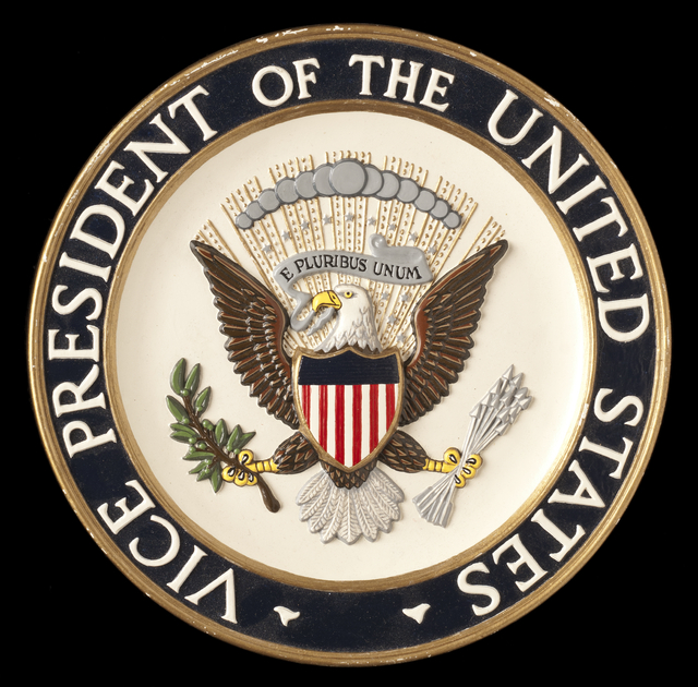 vice presidential podium seal minnesota historical society