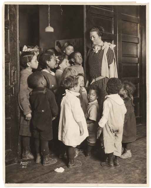Photo of children at Wheatley House, 1924