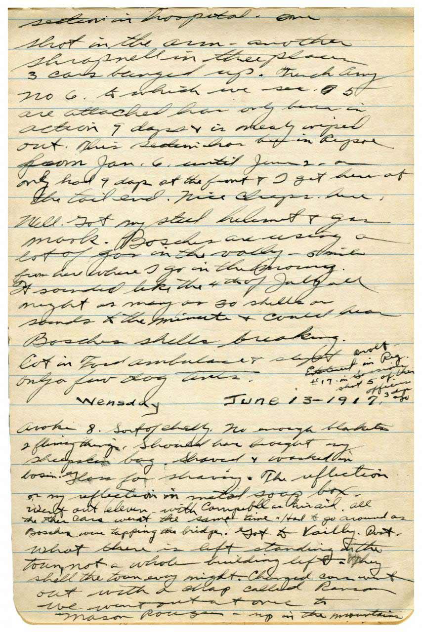 David Backus Takes Shelter in Wine Cellar - June 13, 1917