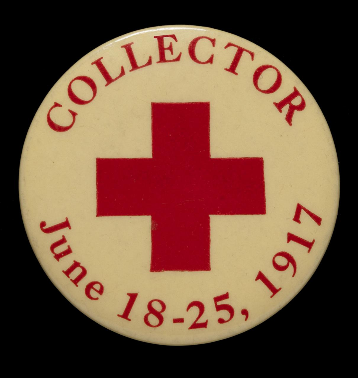 American Red Cross Button June 21 1917 Minnesota Historical Society