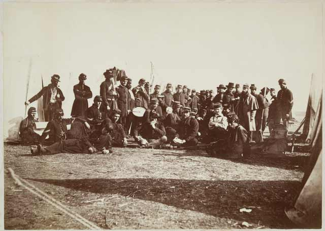 Company E, Eighth Minnesota Volunteer Infantry, Fort Snelling, 1862. Company E, Eighth Minnesota Volunteer Infantry, Fort Snelling, 1862. Source: MNHS Collections.