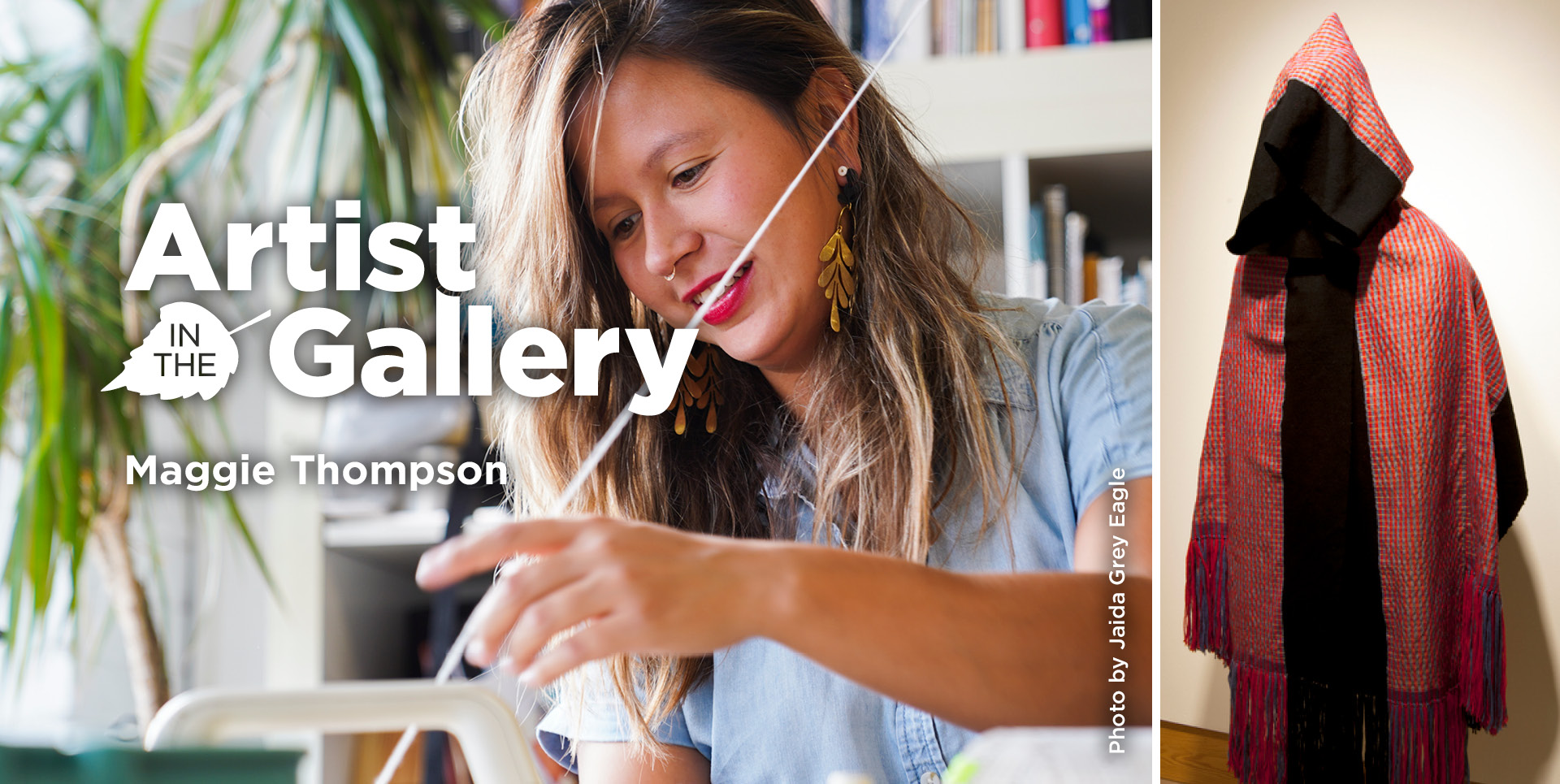 Artist in the gallery.