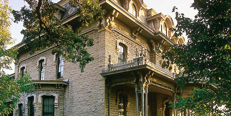 Exterior view of the Alexander Ramsey House