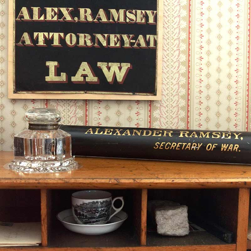 Items on Alexander Ramsey's desk