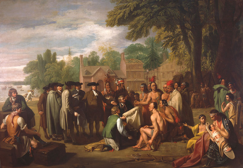 Benjamin West (American, 1738–1820) Penn's Treaty with the Indians (detail), 1771–1772.