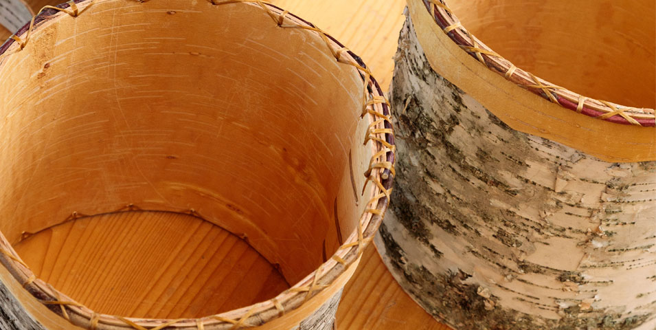 Birch bark basket workshop.
