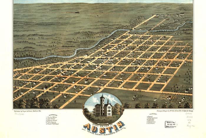 Minnesota Birdseye Maps (1867-1914).