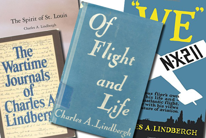 Books by Lindbergh family.