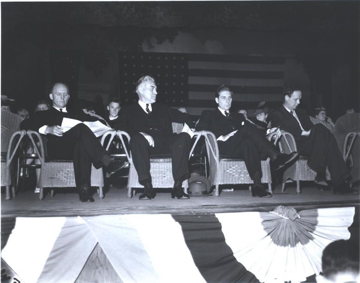 America First meeting at Minneapolis Auditorium.