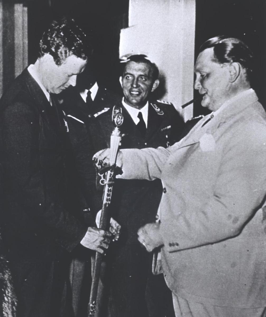 Charles Lindbergh with Hermann Goering.
