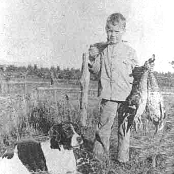 Charles Lindbergh as a young boy hunting. Source: MNHS Collections.