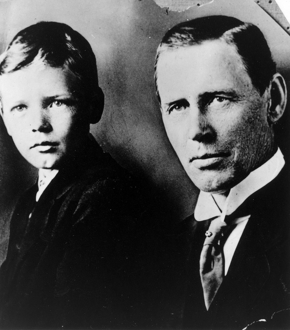 Portrait of Charles A. Lindbergh and son