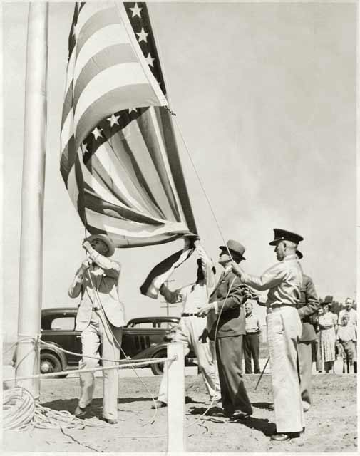 The dedication of Fort Snelling National Cemetery, 1939. Source: MNHS Collections.