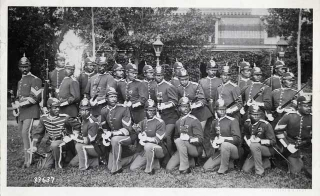 Company B of the Twenty-Fifth United States Infantry, about 1883. Source: MNHS Collections.