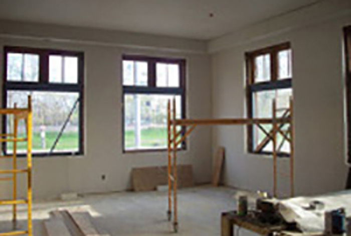 Photo of an interior construction project.