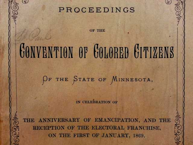 Convention of colored citizens.