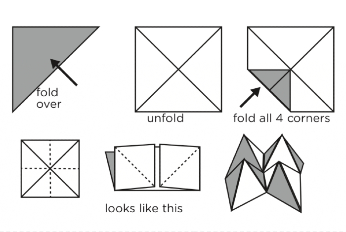 Origami instructions.