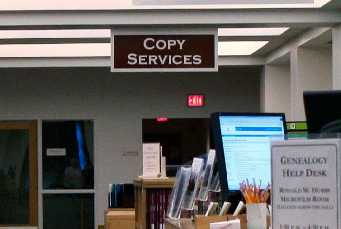 In-person copy services.