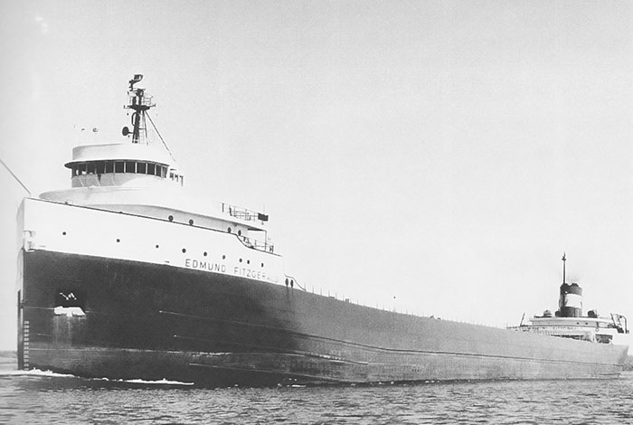 Edmund Fitzgerald at launch, facing left