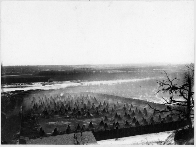 The concentration camp, 1862 or 1863. Source: MNHS Collections.