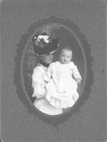 Evangeline Lake Lodge Lindbergh and her son