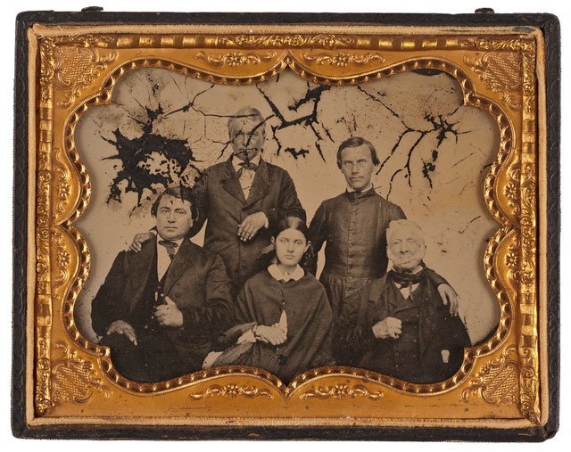 Faribault (bottom right) and family members, ca. 1850.