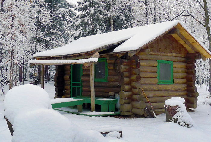 Forest Service cabin.