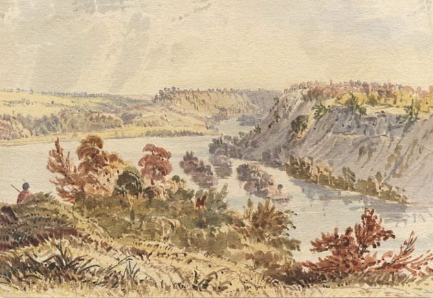 A Seth Eastman Watercolor of Fort Snelling, circa 1846-1848