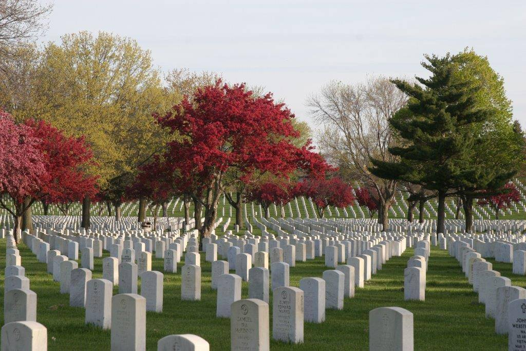 Spring time at Fort Snelling National Cemetery, 2016. Photo by Fort Snelling National Cemetery, National Cemetery Administration. Source: National Cemetery Administration (NCA) U.S. Department of Veterans Affairs
