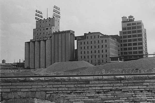Abandoned Washburn A Mill, 1976. Source: MNHS Collections.