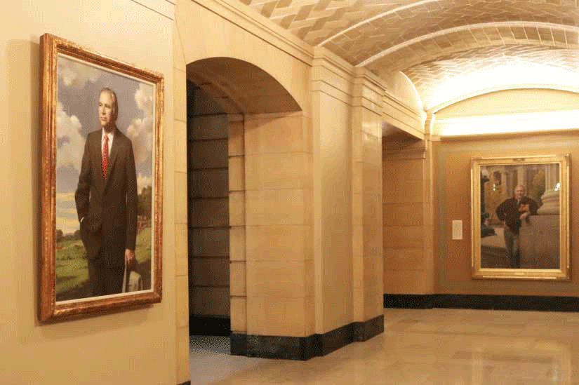 Two governors' portraits on the ground floor
