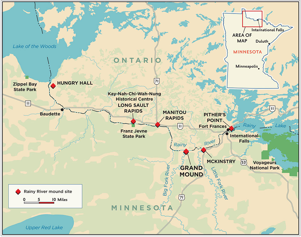 Map Manitou Mounds Canada Grand Mound Historic Site | Minnesota Historical Society