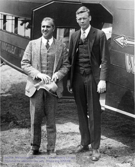 Charles A. Lindbergh with Harry Guggenheim, 1927.