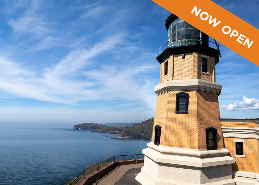 Split Rock Lighthouse, Now Open.