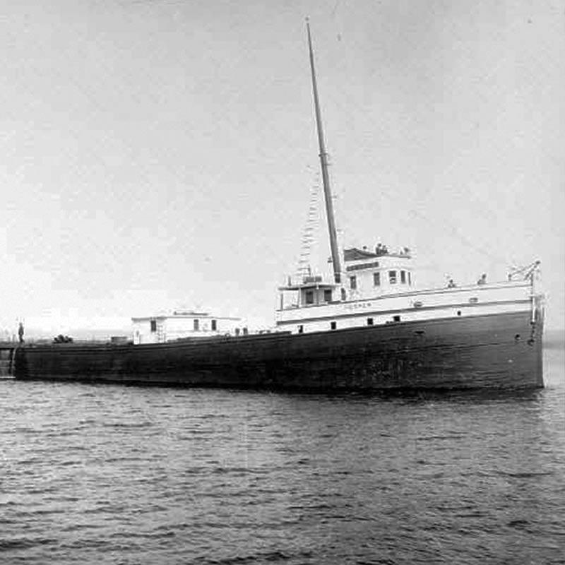 Boat at sea facing right