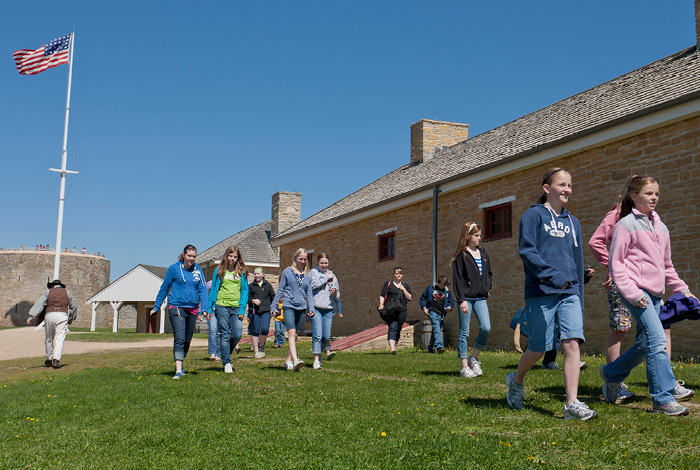 School children at Fort Snelling.