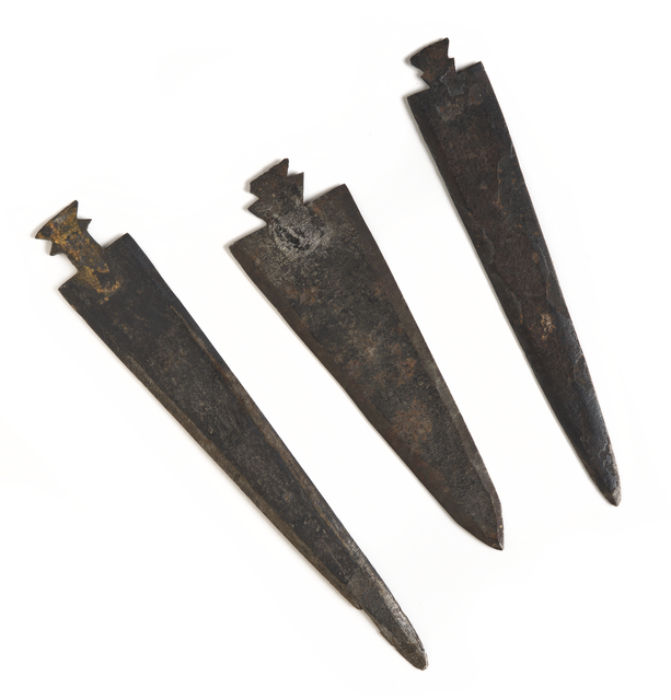 Fur trade iron projectile points, about 1800–1880s. Source: MNHS Collections.