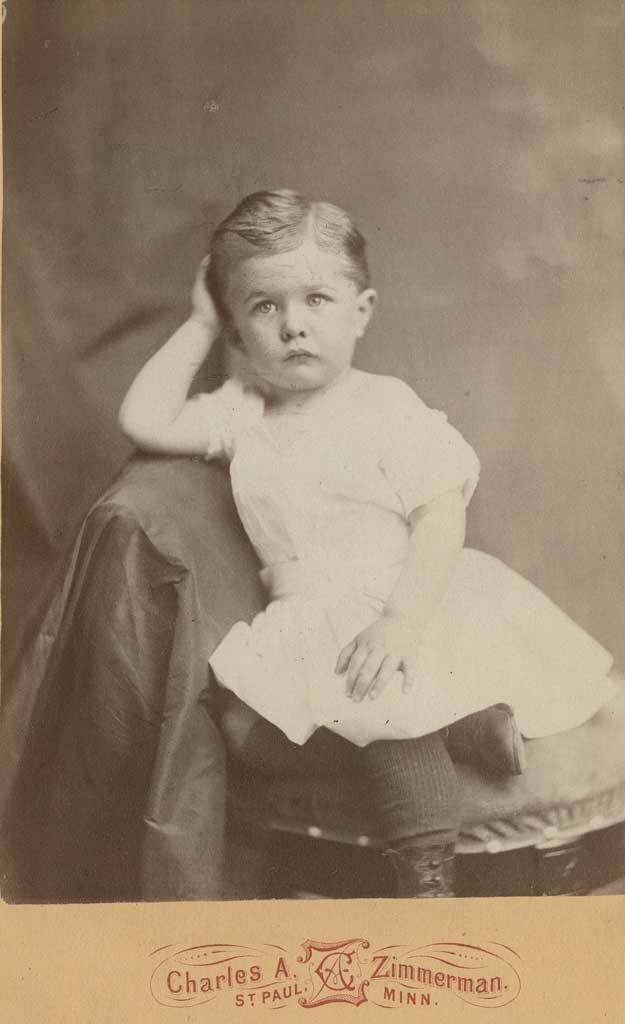 Portrait of Jimmy as a toddler, seated