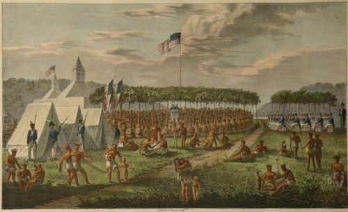 James Otto Lewis, View of the Great Treaty Held at Prairie du Chien, 1825.