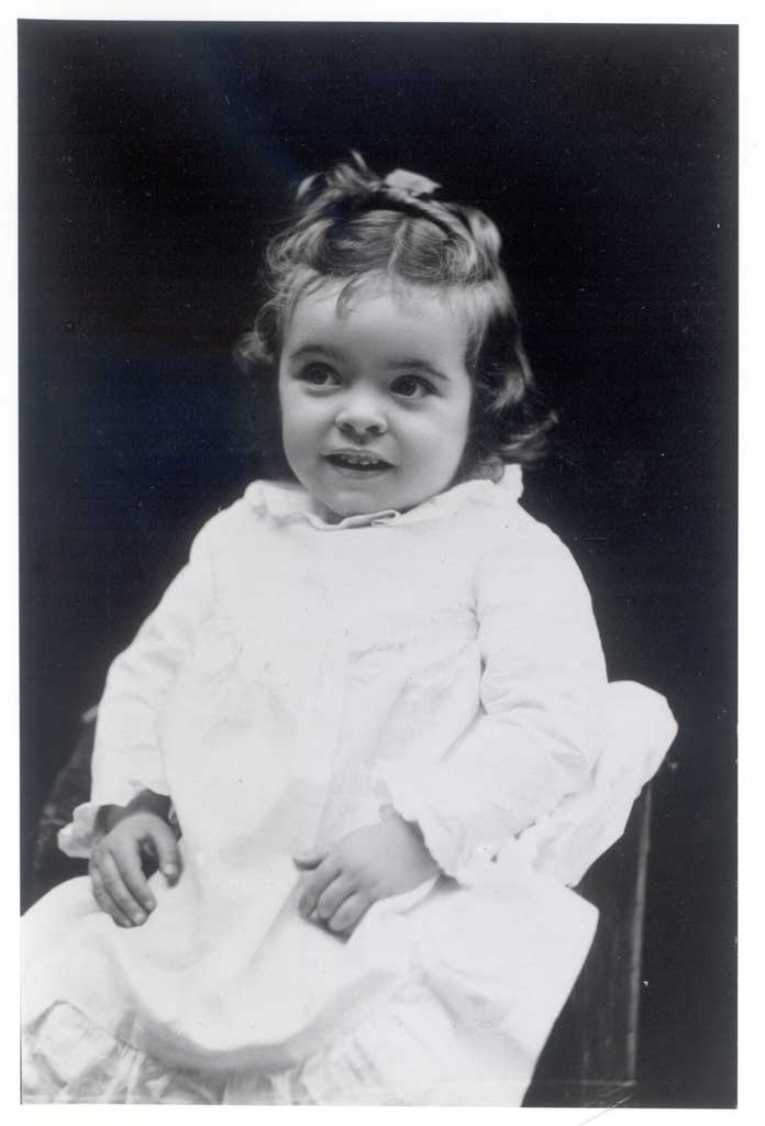 Portrait of Gertrude as a toddler